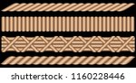rattan wicker basket edge... | Shutterstock .eps vector #1160228446