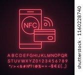 nfc technology neon light icon. ...   Shutterstock .eps vector #1160228740