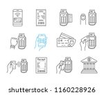nfc payment linear icons set.... | Shutterstock .eps vector #1160228926