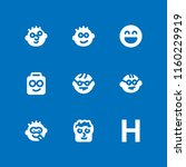 humor icon. 9 humor set with... | Shutterstock .eps vector #1160229919
