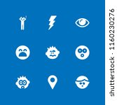 shock icon. 9 shock set with... | Shutterstock .eps vector #1160230276