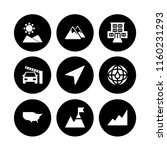 9 route icons in vector set. us ...   Shutterstock .eps vector #1160231293