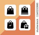 shopaholic icon. 4 shopaholic... | Shutterstock .eps vector #1160232880