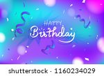 happy birthday and... | Shutterstock .eps vector #1160234029