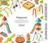 vector isometric playground... | Shutterstock .eps vector #1160236813