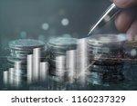 double exposure of business man ... | Shutterstock . vector #1160237329