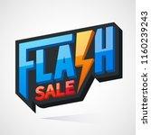 flash sale  banner flat design. ... | Shutterstock .eps vector #1160239243