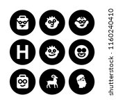 humor icon. 9 humor set with... | Shutterstock .eps vector #1160240410