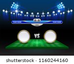football cup or world...   Shutterstock .eps vector #1160244160
