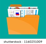 manila folder with financial... | Shutterstock .eps vector #1160251009