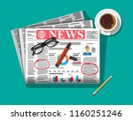 newspaper with notes and... | Shutterstock .eps vector #1160251246