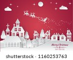 merry christmas and happy new... | Shutterstock .eps vector #1160253763