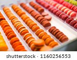 colorful macaroons. tasty... | Shutterstock . vector #1160256553