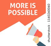 more is possible announcement.... | Shutterstock .eps vector #1160260060