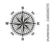 nautical navigation compass or...   Shutterstock .eps vector #1160260270