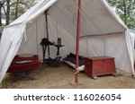 Inside Colonial Officer Tent