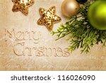 christmas decoration | Shutterstock . vector #116026090