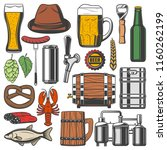 Beer Alcohol Drink Retro Icons...