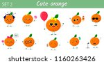 a set of ten cute orange... | Shutterstock .eps vector #1160263426