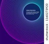 circular wireframe mesh logo... | Shutterstock .eps vector #1160273920