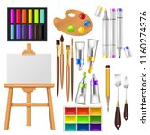 artist tools vector watercolor... | Shutterstock .eps vector #1160274376