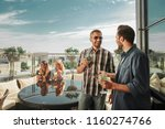 party under the sky. smiling... | Shutterstock . vector #1160274766