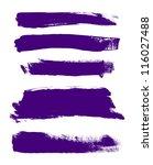 purple hand painted vector... | Shutterstock .eps vector #116027488