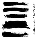 black hand painted vector... | Shutterstock .eps vector #116027506