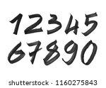 element  set of ten numbers... | Shutterstock .eps vector #1160275843