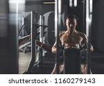 focus on determined guy... | Shutterstock . vector #1160279143