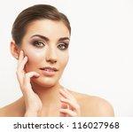 close up portrait of beautiful... | Shutterstock . vector #116027968