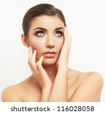 close up portrait of beautiful... | Shutterstock . vector #116028058
