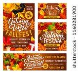 thanksgiving day fall fest... | Shutterstock .eps vector #1160281900