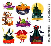 halloween monster icon set.... | Shutterstock .eps vector #1160282176