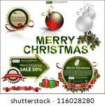 set of christmas items | Shutterstock .eps vector #116028280