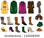 autumn fashion | Shutterstock .eps vector #116028340