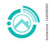 online realty logo vector... | Shutterstock .eps vector #1160283463