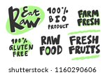 eat raw  100   bio product ... | Shutterstock .eps vector #1160290606