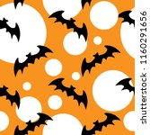 halloween seamless pattern with ... | Shutterstock .eps vector #1160291656
