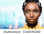 close up portrait of facial... | Shutterstock . vector #1160292283