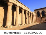egyptian temple monument | Shutterstock . vector #1160292700