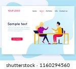 office life  teamwork  business ...   Shutterstock .eps vector #1160294560