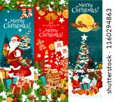 merry christmas banner with... | Shutterstock .eps vector #1160294863