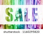rainbow background with jersey... | Shutterstock . vector #1160295820