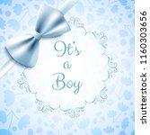 it's a boy baby shower cute... | Shutterstock .eps vector #1160303656