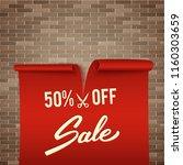 50  off  half price discount ... | Shutterstock .eps vector #1160303659