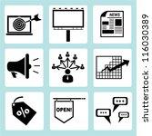 advertising icon set  marketing ... | Shutterstock .eps vector #116030389