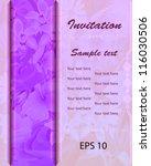 invitation pink floral...   Shutterstock .eps vector #116030506