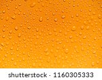water drops on yellow... | Shutterstock . vector #1160305333