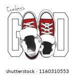 feeling good text for t shirt... | Shutterstock .eps vector #1160310553
